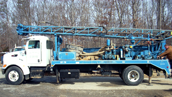 large drilling truck